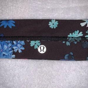 Blue Floral Lulu Lemon Headband